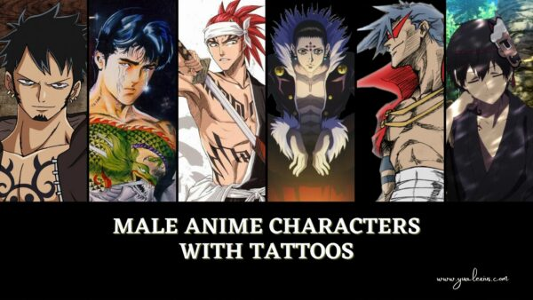 male anime characters with tattoos