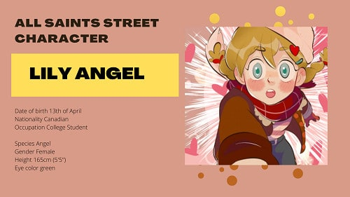 All Saints Street Character Lily Angel