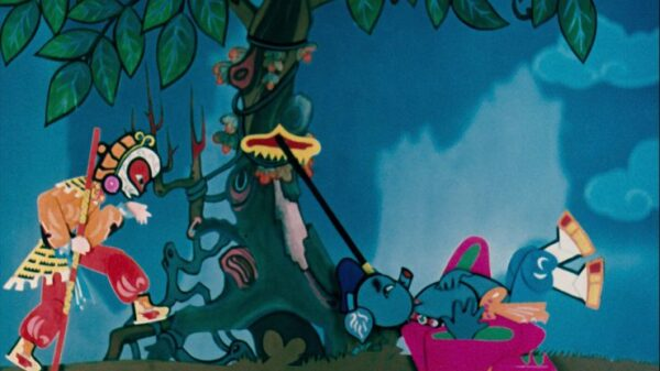 Golden Age of Chinese Animation Pigsy Eats Watermelon