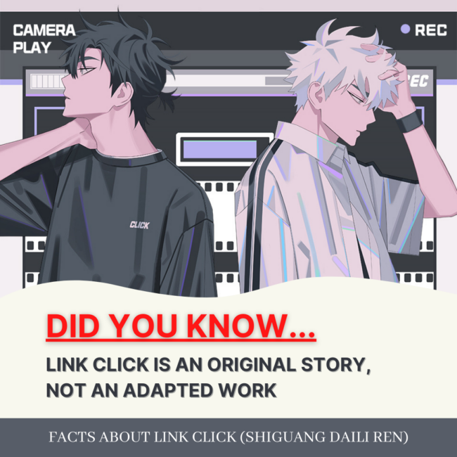 FACTS: LINK CLICK IS AN ORIGINAL STORY, NOT AN ADAPTED WORK